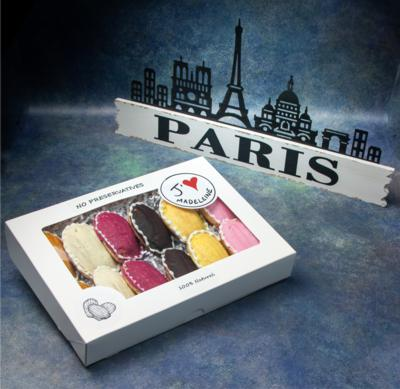 Box of 12 Glazed Madeleines (Chef's Selection of Flavors)
