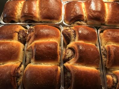 Brioche with Nutella and Mixed Nuts