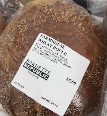 Farmhouse Whole Wheat Boule