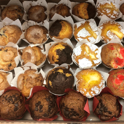 Muffins - 14 flavors to choose from including chocolate cream cheese
