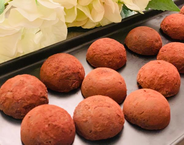 Keto Line (K2) The Ultimate Guilt Free Truffles - Purest Darkest KETO VEGAN  SUGAR-FREE (2 truffles)