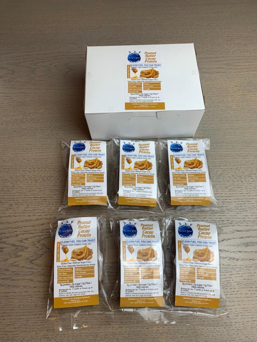 Protein Line (P1) - Peanut Butter Cacao Protein Squares - Grab and Go Box