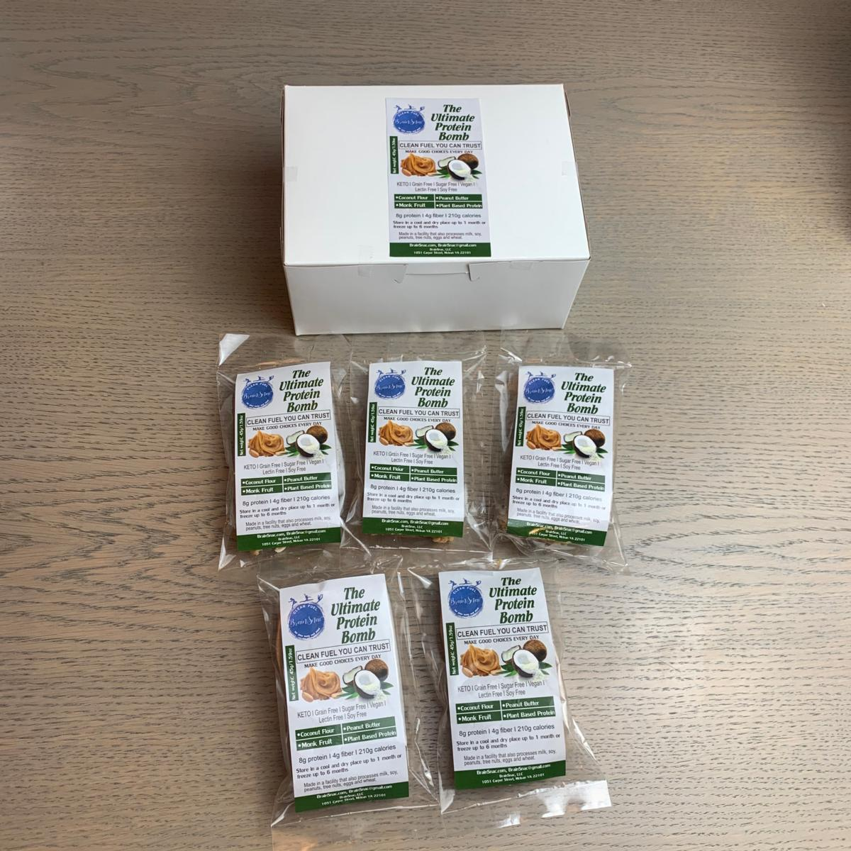 Keto Line (K1): The Ultimate Protein Bomb - Vegan KETO Grain Free Sugar Free - Grab and Go Box