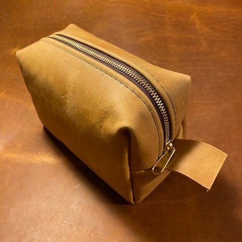Leather Dopp Kit - Weekender size