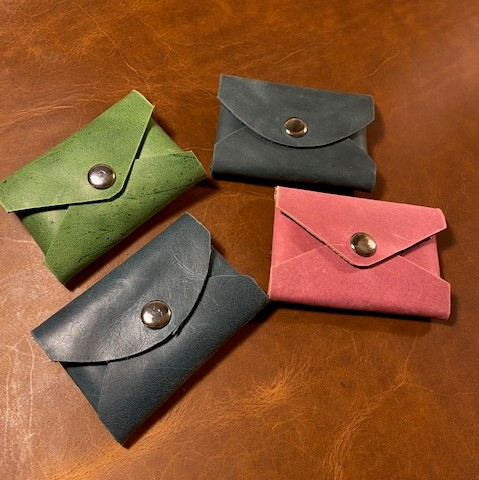 Leather Business Card Pouch