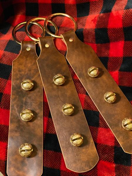 Leather Sleigh Bell Door Hanger