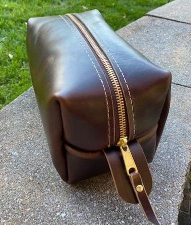 Leather Dopp Kit - Adventurer size