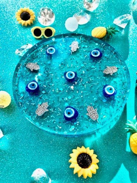 Blue Mediterranean Coaster