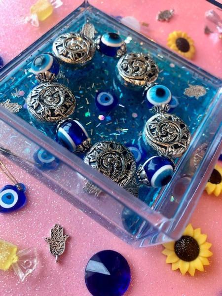 Blue Mediterranean Trinket Dish