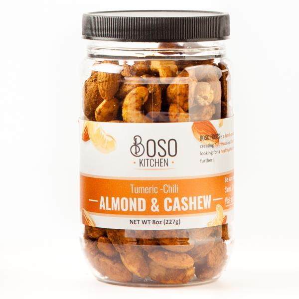Turmeric-Chili Almond & Cashew 8oz jar