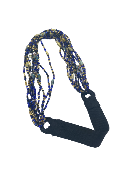 Hand Beaded Headband - Seed and Paper Beads