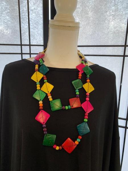 Multi Color Coconut Necklace