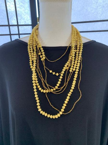 Handmade 8-strand Ugandan Paper Bead Necklace