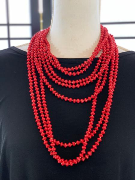 Handmade Red Ugandan Paper Bead Necklace