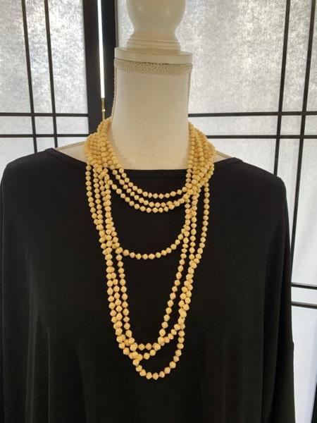 Handmade Cream Ugandan Paper Bead Necklace