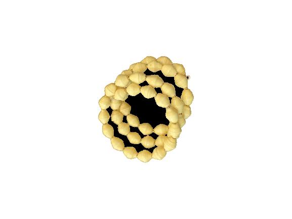 Handmade Ugandan Paper Bead Wrap Bracelet Cream