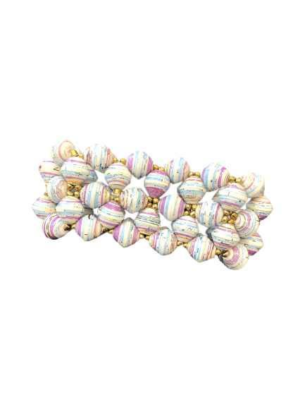 Handmade Ugandan Paper Bead Elastic Bracelet