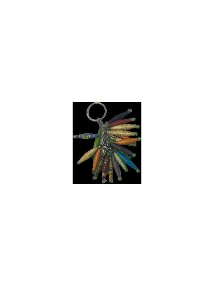 Handmade Paper Bead Keychain