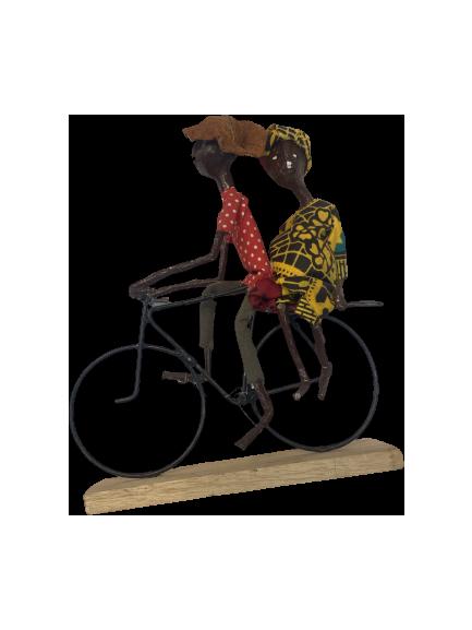 Handmade Paper Mache Bicycle African Art Figurine