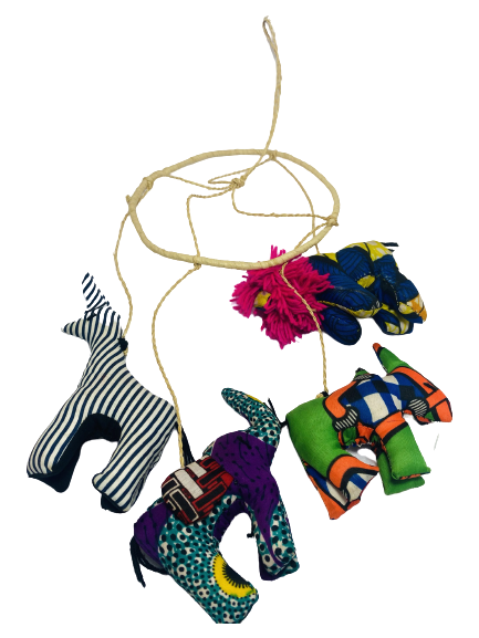 Handmade in Uganda Stuffed Animal Mobile