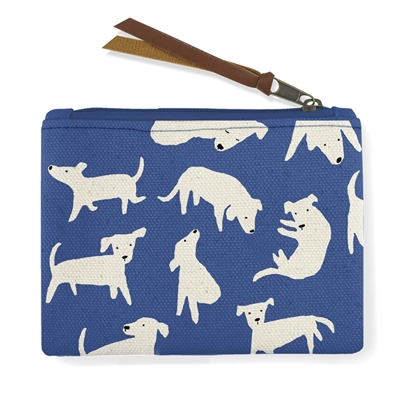 Small Pouch - Blue Dog