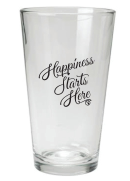 Happiness Starts Here Pint Glass