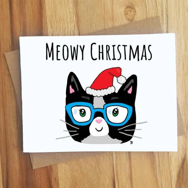 Card - Meowy Christmas