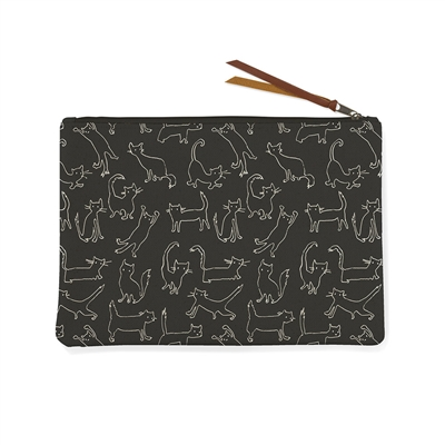 Medium Pouch - Sketched Cats