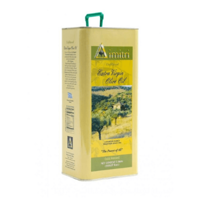 Unfiltered First Cold Pressed Extra Virgin Olive Oil, 3 Liter Can
