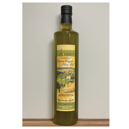Unfiltered First Cold Pressed Extra Virgin Olive Oil Unfiltered (750ml)