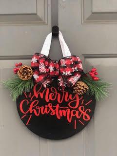 12 Inch Door Sign: Merry Christmas