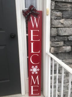 4ft. Porch Sign: Welcome