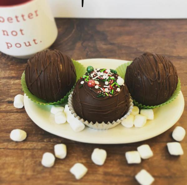 Salted Caramel Hot Cocoa Bomb