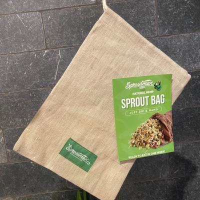 Sproutman's® Sprout Bag - Just Dip In Water, Hang It Up, & Watch 'em Grow!
