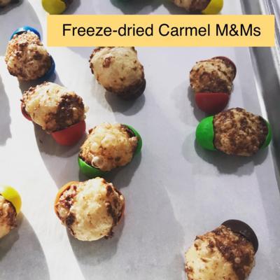 Freeze-dried Caramel M&M's