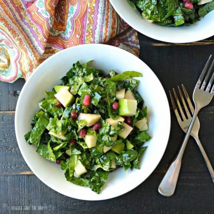 Kale, Apple, & Pomegranate Salad