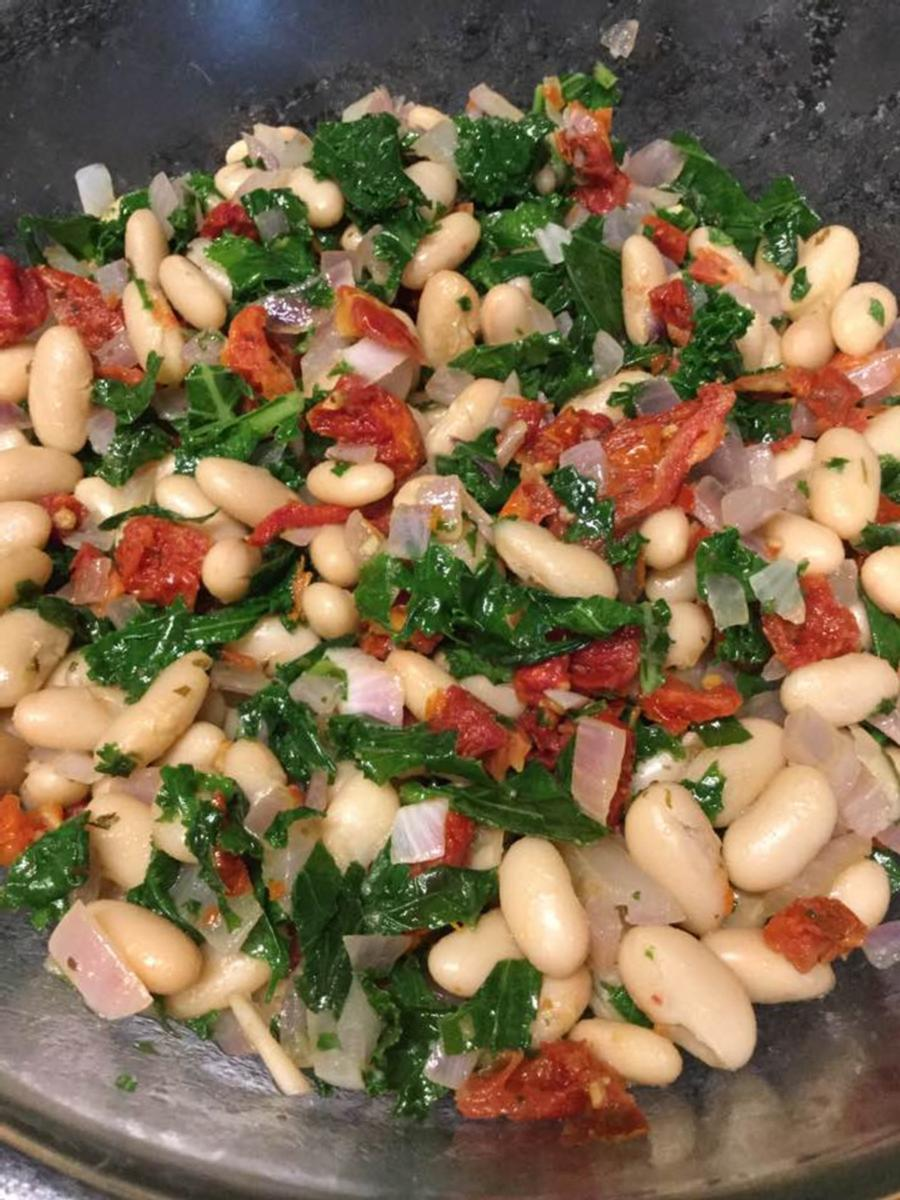 White Bean & Kale Salad