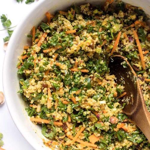 Lentil, Kale, & Quinoa Salad