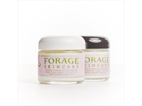 Two 2 oz jars of Forage Skincare Delicate Day/Night Set