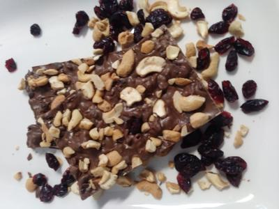 Cashew Cranberry Milk Bark