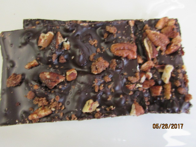 Dark Chocolate Bark - Pecan Cherry