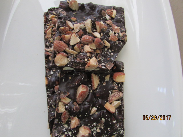 Dark Chocolate Bark -  Smoked Almond and Sea Salt