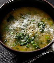Spinach and Arborio Rice Soup