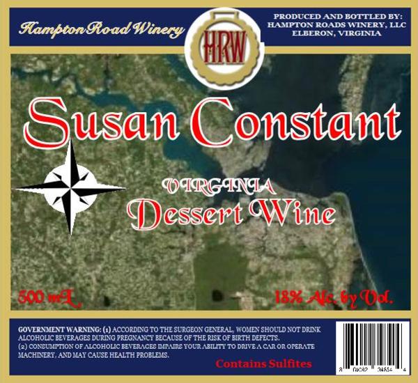 Susan Constant dessert Wine