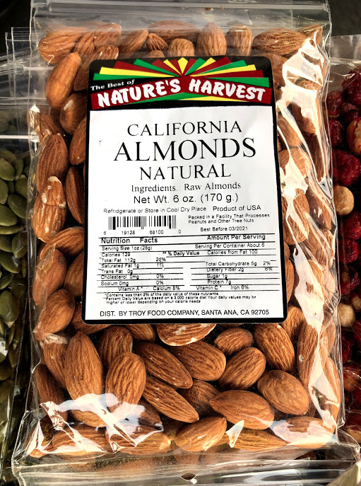 Almonds, Whole