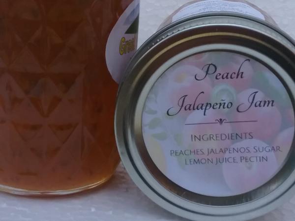 Peach Jalapeno Jam (8 oz.)