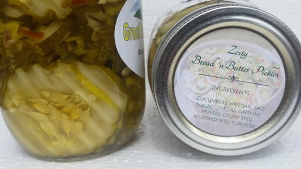 Zesty Bread and Butter Pickles (16 oz.)